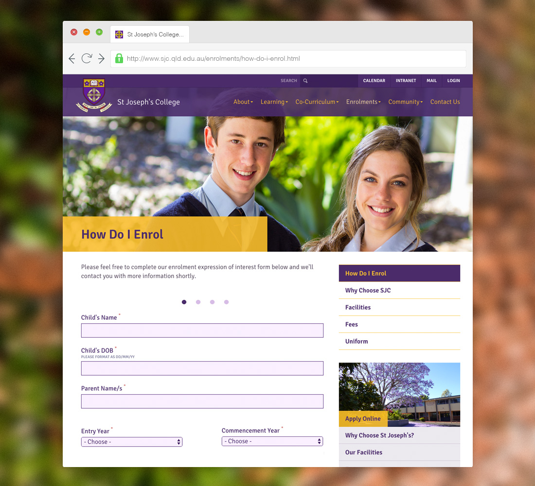 Designed to Capture Enrolments